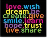 Bed Bath & Beyond Love Wish Wall Art in Rainbow