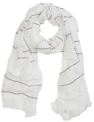 Pom Pom at Home Westport Viscose Scarf - White