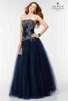 Alyce Paris - 6541 Long Dress In Navy Gold
