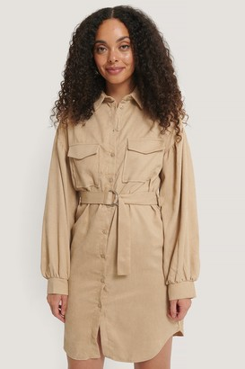 Trendyol Mini Corduroy Belted Dress