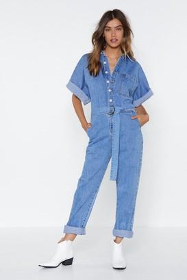 Nasty Gal Womens The Complete Package Denim Boilersuit - Blue - S