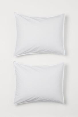 H&M 2-pack Cotton Pillowcases - White