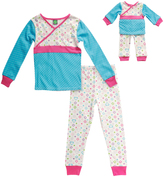 Dollie & Me Turquoise Surplice Top Set & Doll Outfit - Toddler & Girls