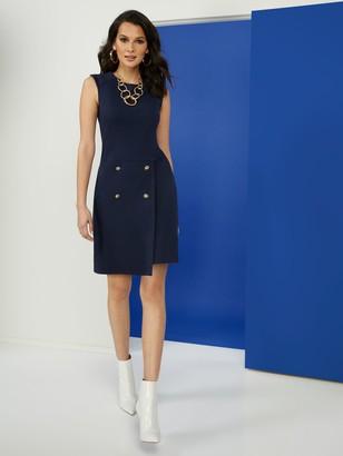 New York & Co. Button-Front Ponte Dress - Superflex