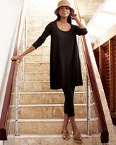 Joan Vass Scoop-Neck Tunic, Women's