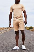 Raglan Muscle Fit T Shirt With MAN Logo