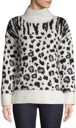 Jones New York Animal-Print Turtleneck Sweater