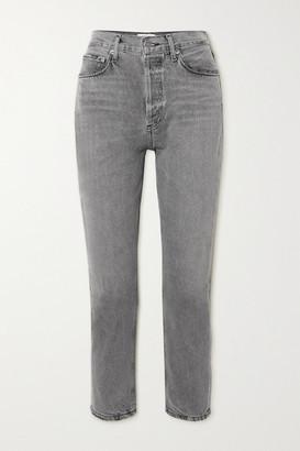AGOLDE Riley High-rise Straight-leg Jeans - Gray