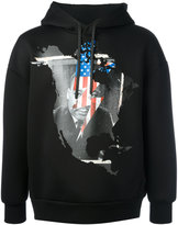 Neil Barrett Martin Luther King hoodie - men - Polyurethane/Viscose - S