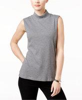 Karen Scott Striped Mock-Turtleneck Top, Only at Macy's