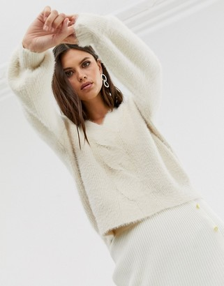 Fashion Union relaxed jumper with twist front detail