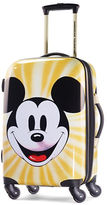 American Tourister Mickey Mouse Face 20-Inch Spinner Carry-On Expandable Suitcase