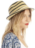 Sole Society Braided Stripe Fedora With Rope Band
