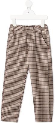 Il Gufo Checked Straight Trousers