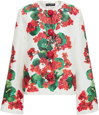 Dolce & Gabbana Floral-print Silk-twill Jacket