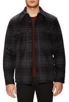 Vince Plaid Military Jacket