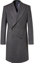 Richard James Herringbone Wool Double-Breasted Coat