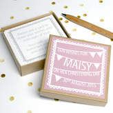 Modo creative Personalised Christening Guest Message Box
