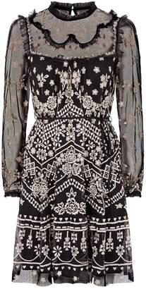 Needle & Thread Embroidered Esme Mini Dress