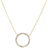 Sydney Evan 14K Pave Circle Necklace
