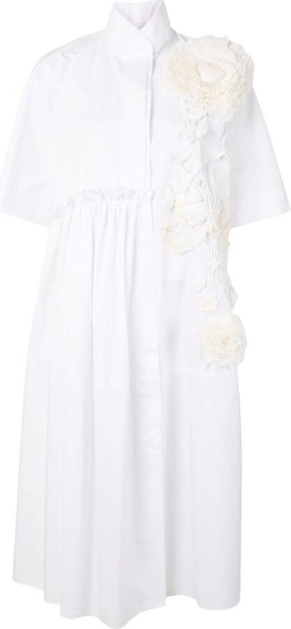 Dice Kayek Flower Applique Dress