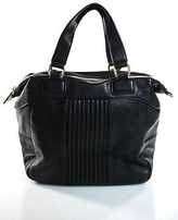 BCBGeneration Black Leather Tote Shoulder Handbag Size Medium