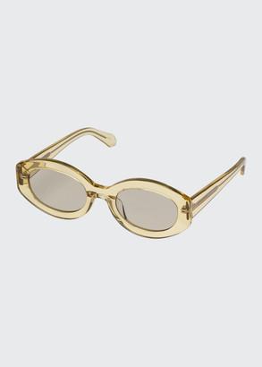 Karen Walker Bishop Oval Acetate Sunglasses