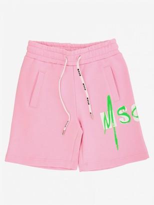 Msgm Kids Shorts With Drawstring