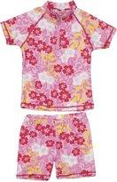 Playshoes Girl's UV Sun Protection 2 Piece Swim Set Hawaii Swimsuit