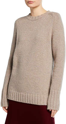 Gabriela Hearst Donegal Cashmere Crewneck Sweater