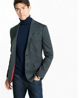 Express slim photographer textured knit blazer