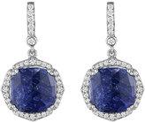 Penny Preville 18k White Gold Diamond & Sapphire Drop Earrings