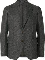 Tagliatore textured two button blazer