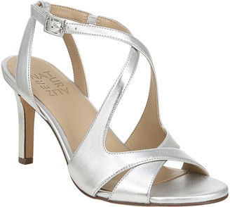 Naturalizer Leather Crisscross Heeled Sandals -Klein