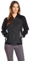 GUESS Women's Long Sleeve Danney Bomber Jacket