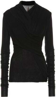 Rick Owens Lilies wool-blend wrap top