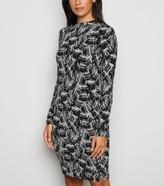 New Look Noisy May Brush Stroke Bodycon Dress