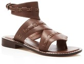 Bernardo Teddi Leather Cutout Ankle Strap Sandals