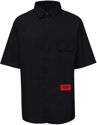 424 Cotton Short Sleeve Shirt W/ Logo Detail