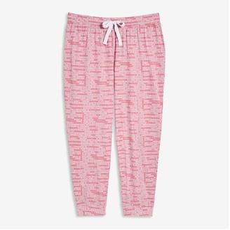 Joe Fresh Women+ Cotton Sleep Joggers, Dusty Pink (Size 1X)