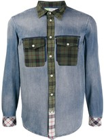 Diesel upcycled plaid patch pocket shirt
