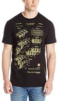 Lego Men's Blue Print T-Shirt