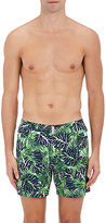 Vilebrequin Men's Merise Tropical-Leaf Swim Trunks