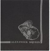 Alexander Mcqueen Hamlet Skull Silk Pocket Square