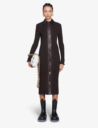 Bottega Veneta Button-down wool and cotton-blend midi dress