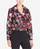 Catherine Malandrino Veruca Printed Faux-Leather Moto Jacket