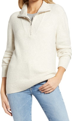 Treasure & Bond Quarter Zip Mock Neck Sweater