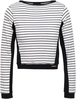 Pepper & Mayne Cropped Striped Stretch-jersey Top