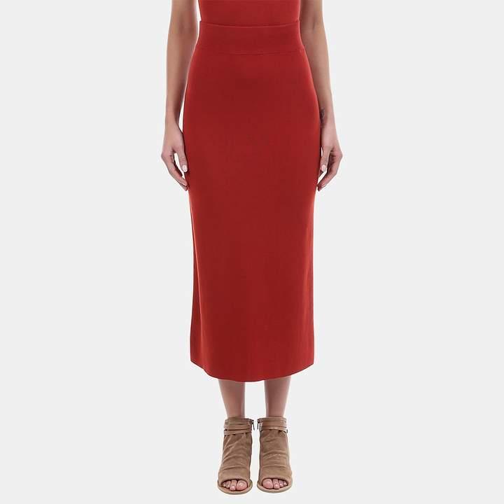 A.L.C. Emmanuelle Cotton Blend Midi Skirt