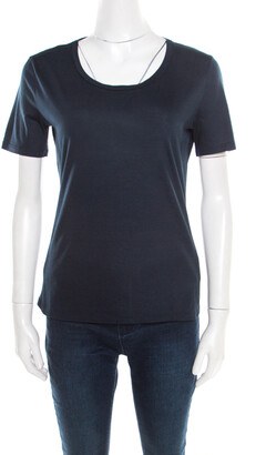 Jil Sander Navy Blue Cotton Crew Neck T -Shirt XL